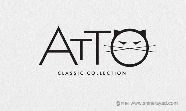 .ATTO女子紧身衣logo设计-20个绝佳创意Logo设计灵感-上海logo设计公司