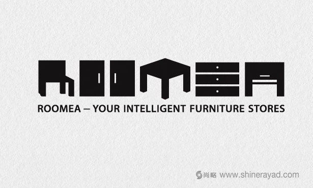 Roomea家具卖场创意LOGO设计-20个绝佳创意Logo设计灵感-上海logo设计公司