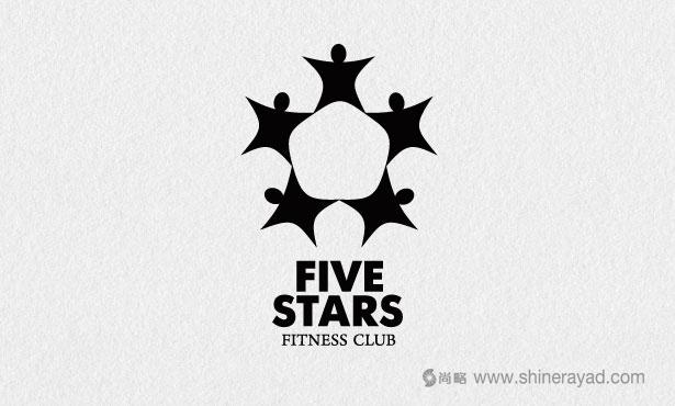 五星健身会所LOGO设计-20个绝佳创意Logo设计灵感-上海logo设计公司