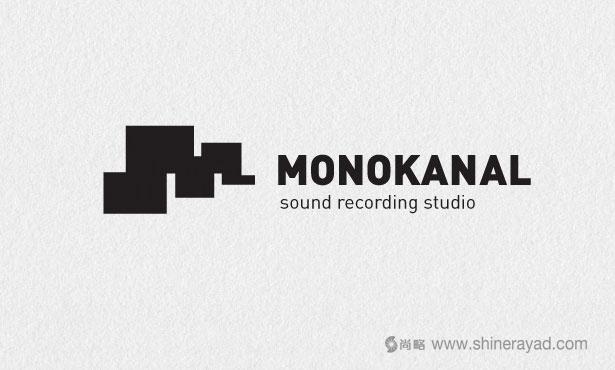 Monokanal录音室LOGO设计-20个绝佳创意Logo设计灵感-上海logo设计公司