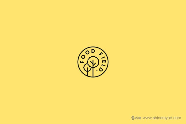 The Food Field 有机农产品食品专卖店logo设计-上海logo设计公司