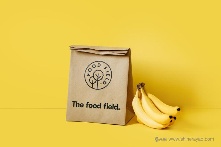 The Food Field 有机农产品食品专卖店logo设计产品包装设计