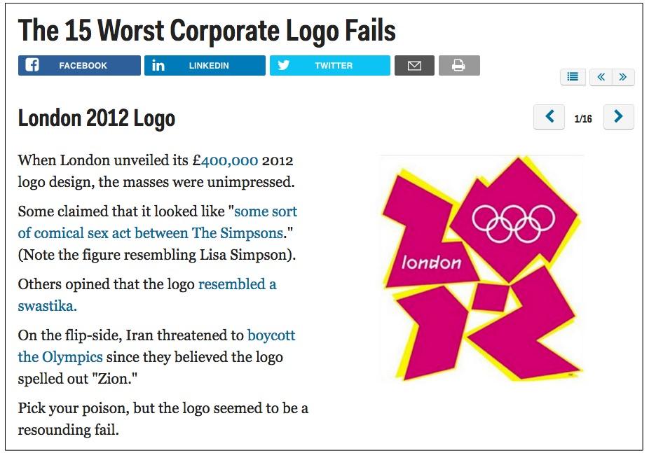 上海logo设计公司分享:世界上最惨重的logo设计和品牌重塑失败案例-伦敦奥运会