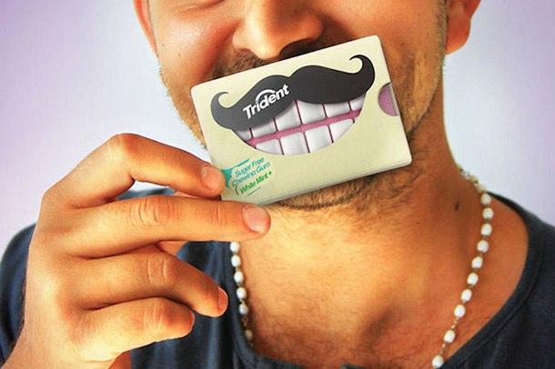 Trident 美白牙齿口香糖创意包装设计-上海包装设计公司