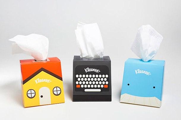 Kleenex纸巾创意包装设计作品欣赏-上海包装设计公司