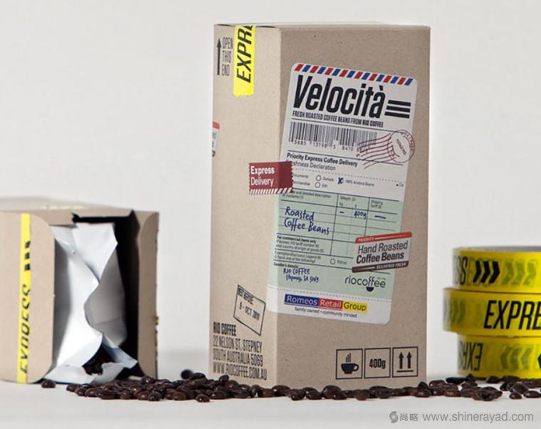 邮戳篇 RioCoffee 咖啡创意包装设计-上海包装设计公司