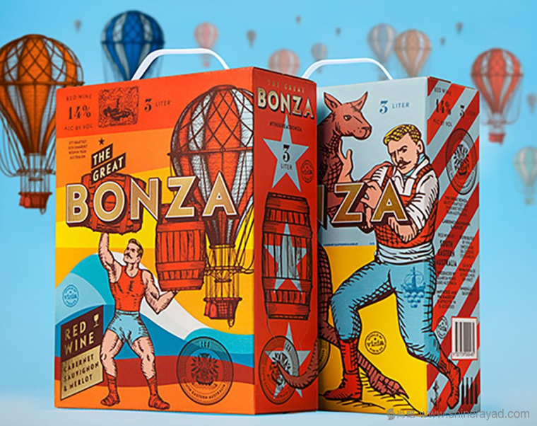 The Great Bonza 澳大利亚酒品牌包装设计-上海包装设计公司