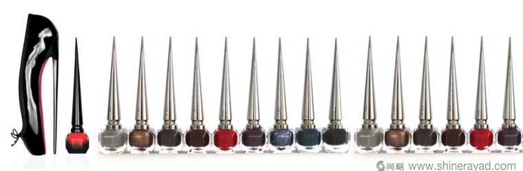 """hristian Louboutin 31色指甲油""""细高跟鞋""""瓶子设计灵感-上海包装设计公司"""