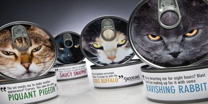 Snookums 猫粮罐头产品创意包装设计-小猫表情都很泼辣-上海包装设计公司