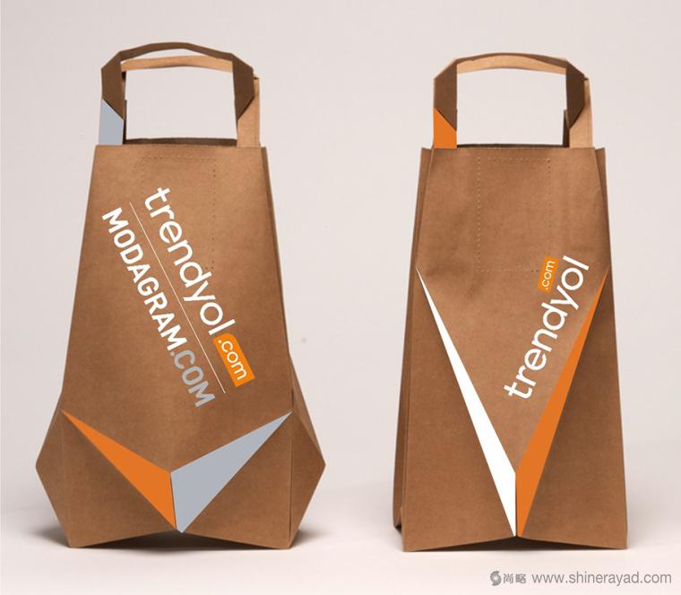 Bloomingdales棕色纸袋子创意包装设计-上海包装设计公司