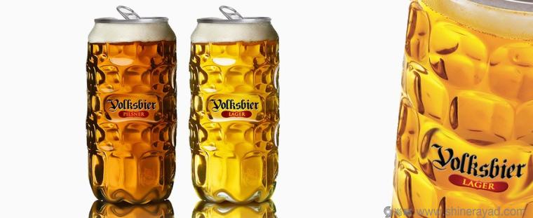Volksbier 啤酒模仿人脸篇创意包装设计-上海包装设计公司
