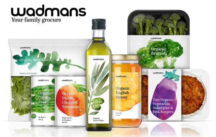 上海包装设计公司-水彩画 Wadmans 有机食品农产品包装设计1