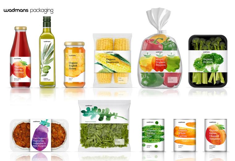 上海包装设计公司-水彩画 Wadmans 有机食品农产品包装设计2