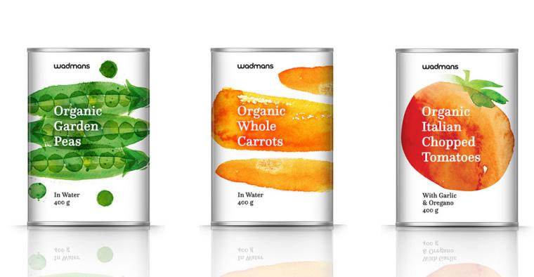 上海包装设计公司-水彩画 Wadmans 有机食品农产品包装设计6