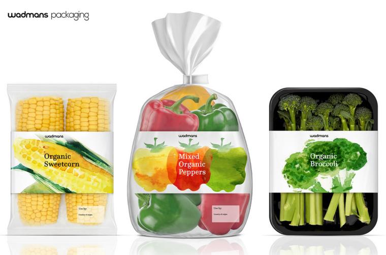 上海包装设计公司-水彩画 Wadmans 有机食品农产品包装设计5