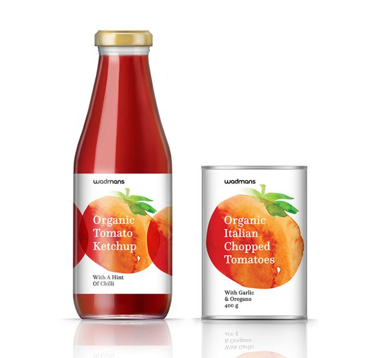 上海包装设计公司-水彩画 Wadmans 有机食品农产品包装设计7
