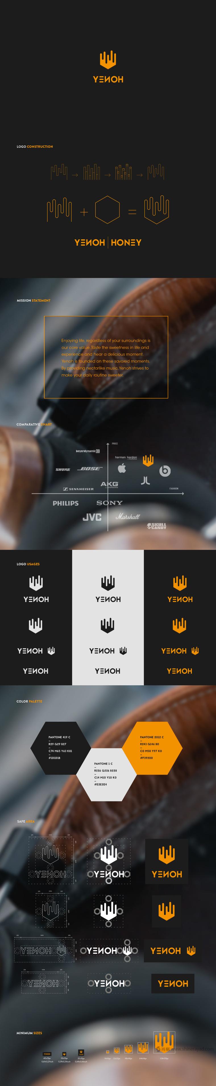 YENOH 耳机品牌LOGO设计概念与品牌定位-上海LOGO设计公司设计欣赏2