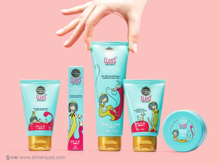 CLEO'S SECRET手脚护理化妆品系列产品包装设计-上海包装设计公司