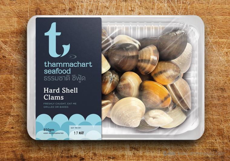 THAMMACHART 海鲜品牌logo设计与海产品包装设计-尚略包装设计公司