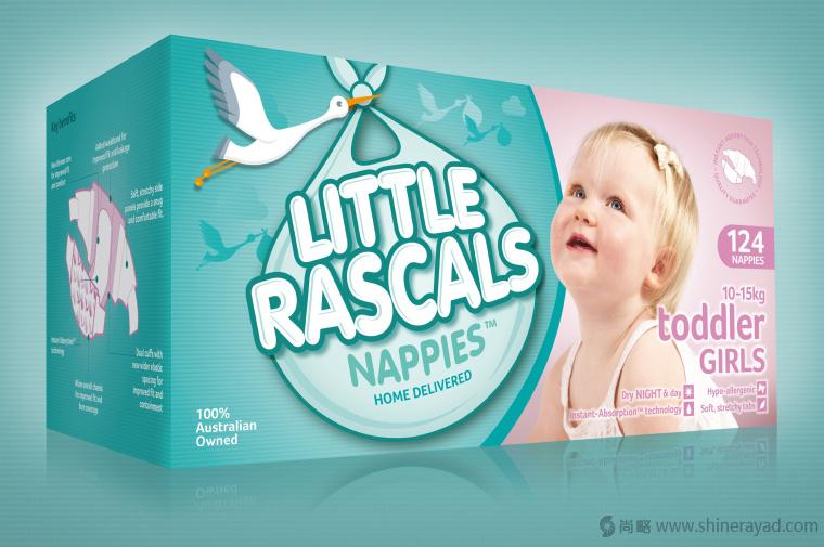 上海包装设计公司-LITTLE RASCALS 婴儿尿布品牌包装设计2