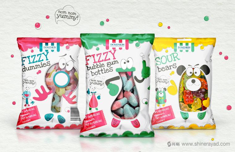 上海包装设计公司欣赏:Fizzy 儿童QQ果糖糖果包装设计1
