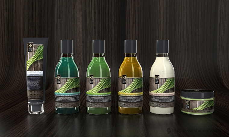 senspa 按摩膏按摩精油品牌标志设计包装设计