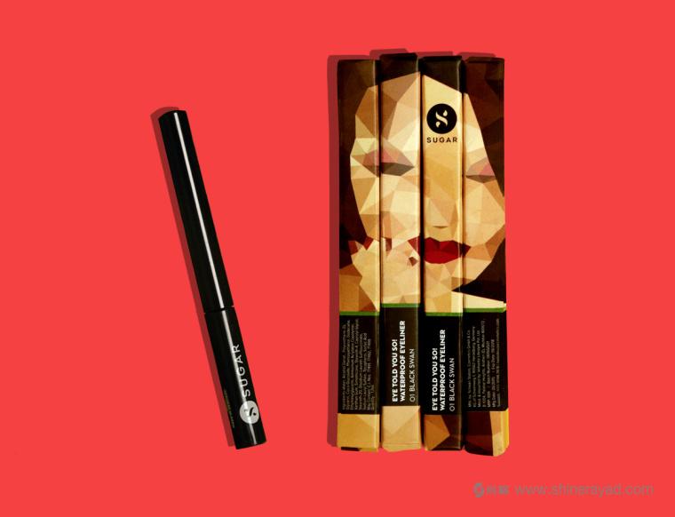 Sugar 品牌三角美女插画美容彩妆化妆品包装设计-上海包装设计公司4