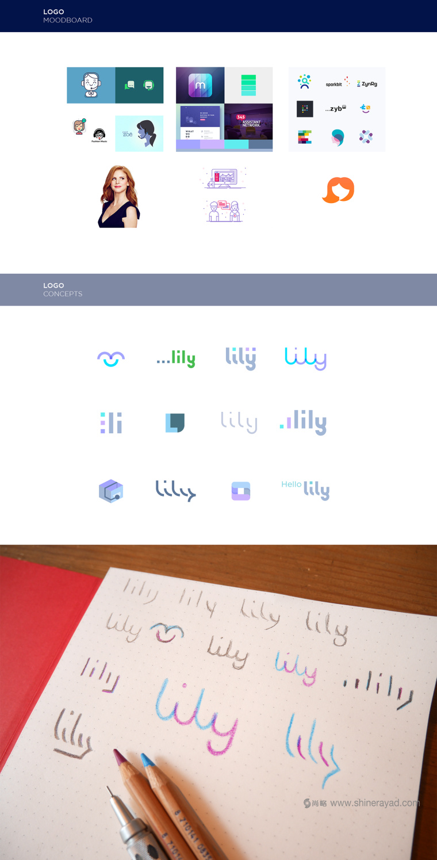 Lily 软件英文字体logo设计字体标准制图设计-上海logo设计公司设计培训3