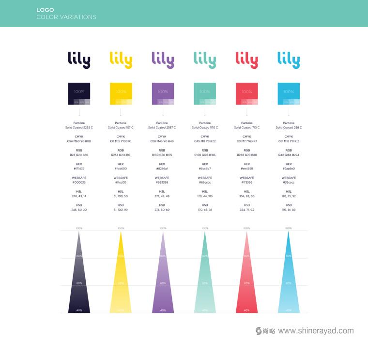 Lily 软件英文字体logo设计字体标准制图设计-上海logo设计公司设计培训5