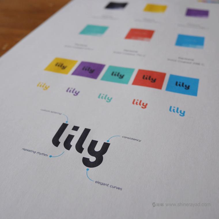 Lily 软件英文字体logo设计字体标准制图设计-上海logo设计公司设计培训6