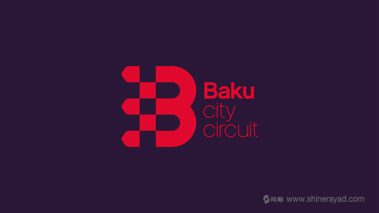 Baku 城市赛车比赛活动B字母logo设计-上海logo设计公司-上海品牌设计公司3