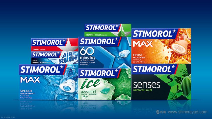 欧洲口香糖品牌Stimorol 五星系列新包装设计-上海包装设计公司1