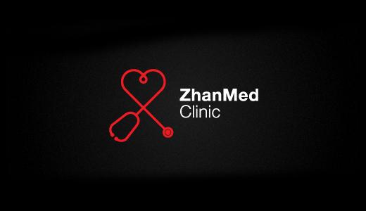 Zhanmed诊所心形标志设计-上海标志设计公司