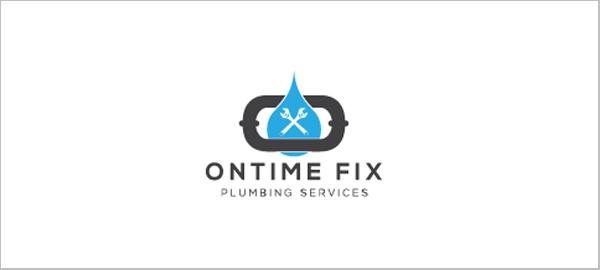 水标志设计图片-水暖服务标志设计