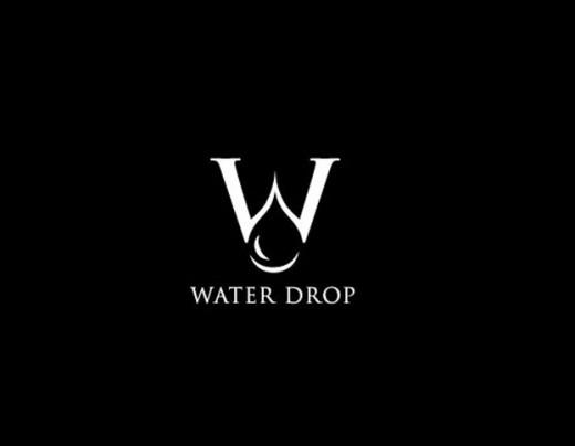 水标志设计图片-水滴与字母W结合