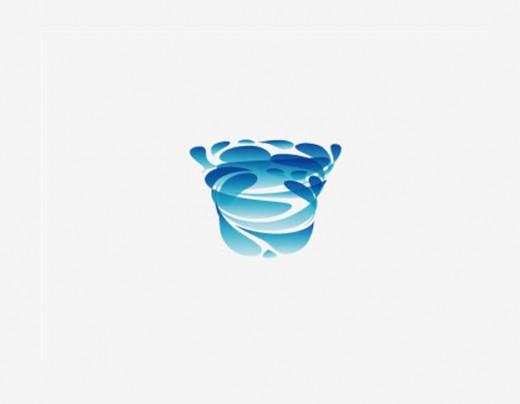 水标志设计图片-陶瓷净水器标志设计