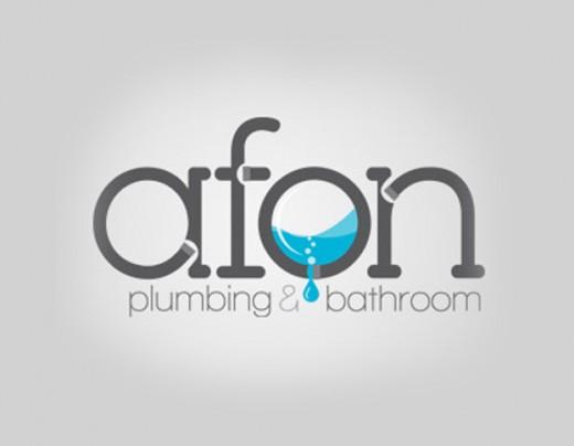 水标志设计图片-阿丰水暖和卫浴标志设计