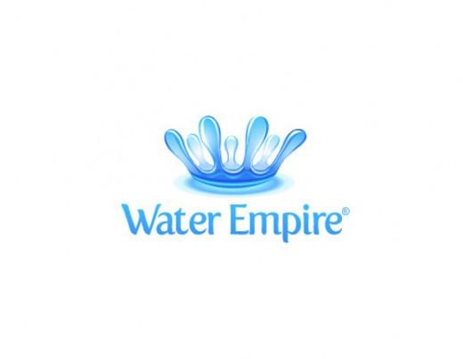 水标志设计图片-水帝国皇冠标志设计