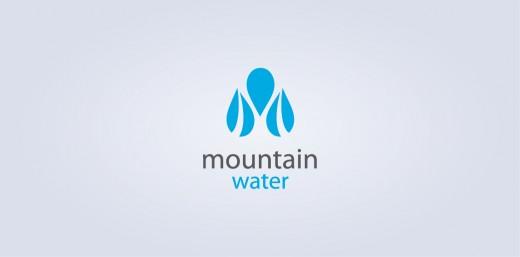 水标志设计图片-山泉水标志设计