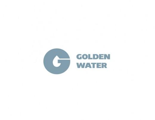 水标志设计图片-矿泉水公司水标志设计字母G+水滴构成