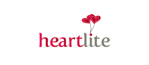 表达爱情爱心的心形logo设计-HEARTLITE 花朵心logo