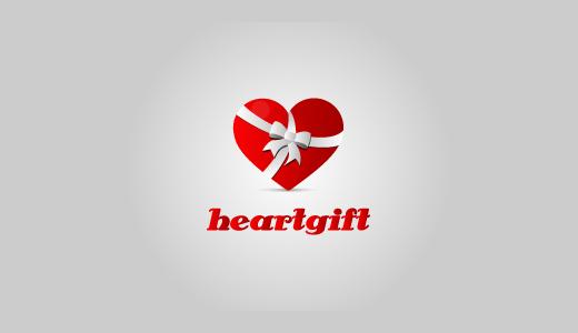 心礼物标志设计-上海标志设计公司
