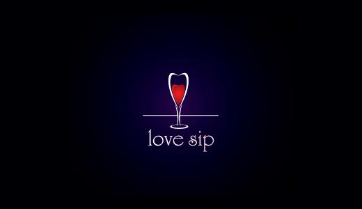 爱啜饮酒杯+心标志设计-上海标志设计公司