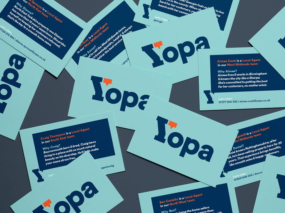 文字商标logo-YOPA(英国在线房屋中介网站)logo设计
