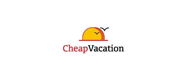创意太阳logo设计灵感-便宜的假期太阳logo设计