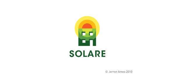 创意太阳logo设计灵感-SOLARE