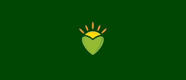 创意太阳logo设计灵感-太阳心