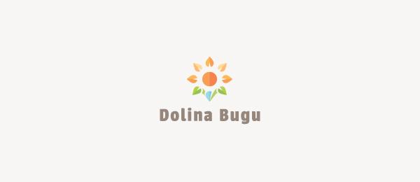 创意太阳logo设计灵感-休闲度假村标志Dolina Bugu