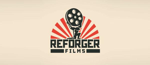 创意太阳logo设计灵感-Reforger电影