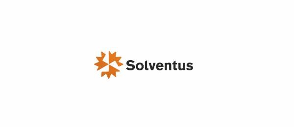 创意太阳logo设计灵感-电力公司标志Solventus